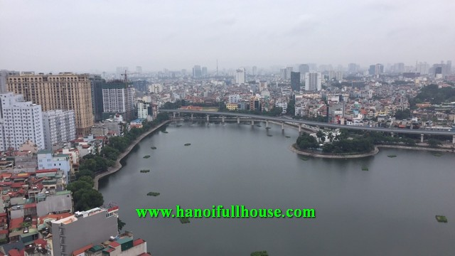 3 bedroom apartment in 57 Lang Ha building, furnished, high floor for rent.